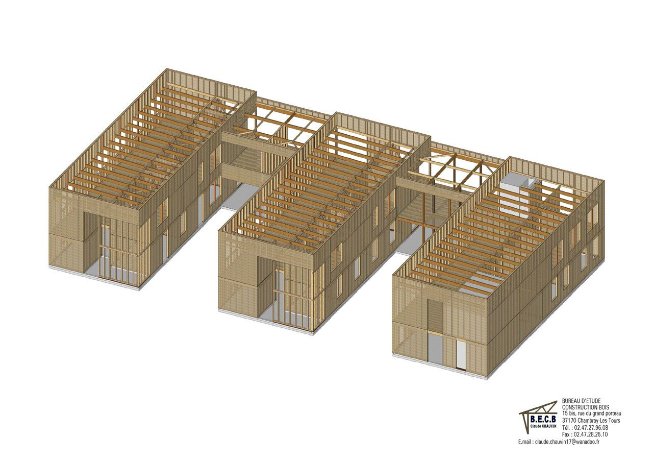 B.e.c.b. ingénierie bois et bureau détudes en bâtiment près de tours